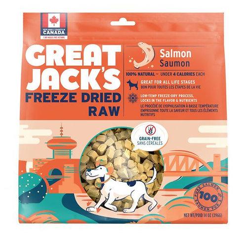 GREAT JACK'S - Friandises Lyophilisées Saumon (7oz)