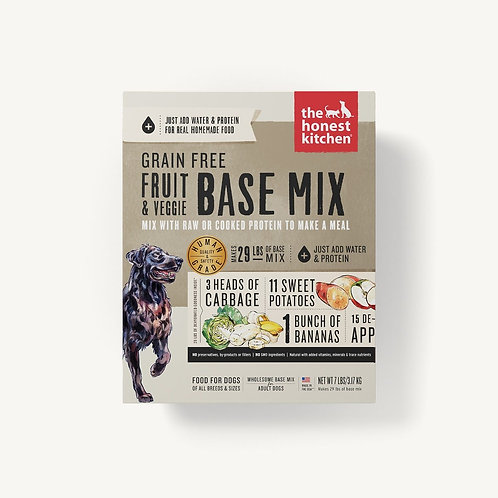 THE HONEST KITCHEN - Base Mix Fruits et Légumes Sans Grains (3lbs)