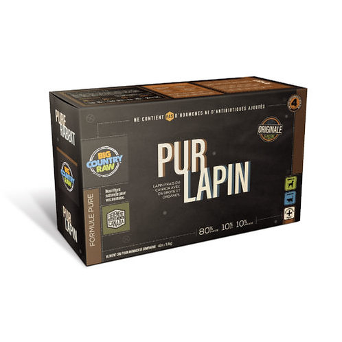 BIG COUNTRY RAW - FORMULE PUR - Lapin - 4lbs (4 x 1lb)