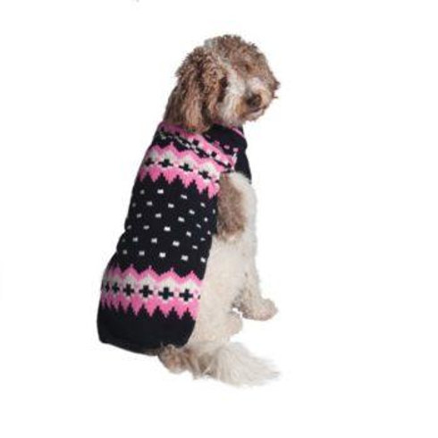CHILLY DOG - Chandail en tricot Pink & Navy Alpine