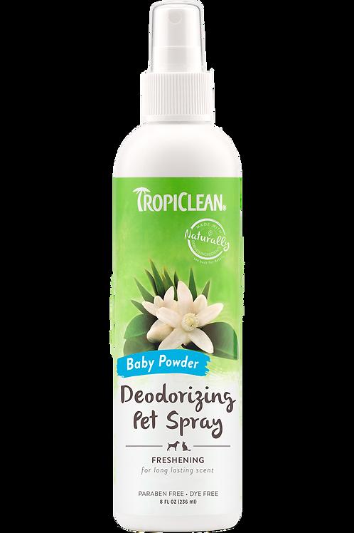 TROPICLEAN - Désodorisant poudre de bébé pour chiens 8oz