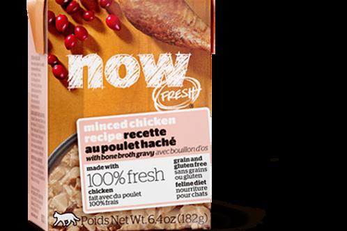 PETCUREAN NOW - Tetra Pak Sans Grains Poulet Haché 182g
