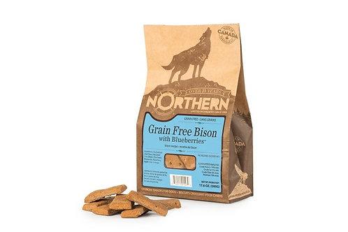 NORTHERN - Gâteries Bison et Bleuets sans grains (500g)