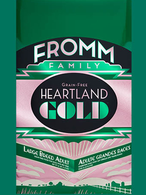 FROMM - Gold Heartland Sans Grains Adulte Grande Race 26lbs