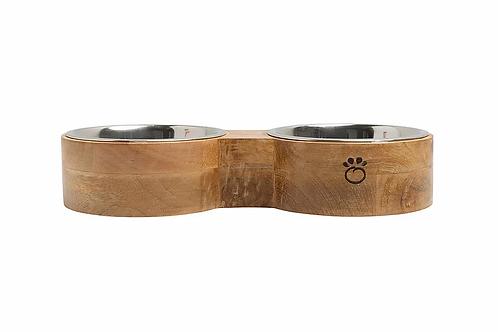 GF PET - Bol double en bois de manguier - 3 grandeurs disponibles