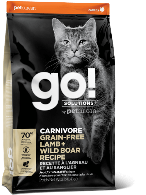 PETCUREAN GO! - Carnivore Agneau+Sanglier 8lbs