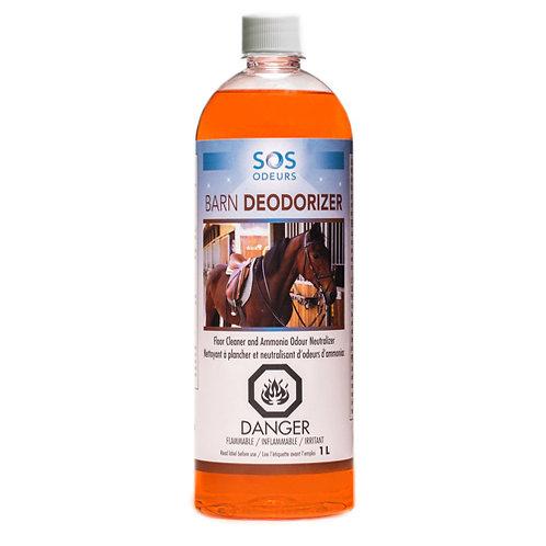 SOS ODEURS - Barn Deodorizer Nettoyant et neutralisant d'odeurs d'ammoniac 1L