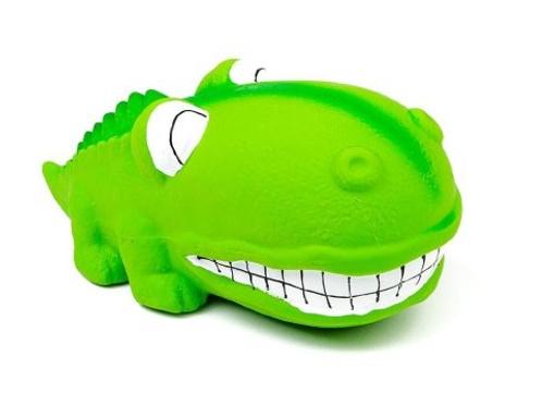 BUD'Z - Jouet Alligator vert gros museau ''Squeak'' en latex - 7''