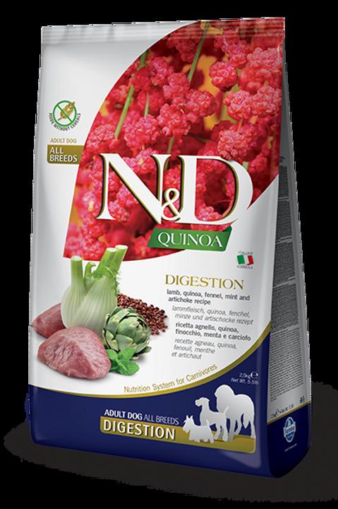 FARMINA - N&D Quinoa Sans Grains Digestion Agneau 15.4lbs