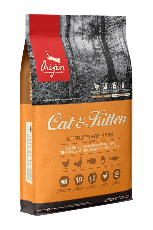 ORIJEN - Sans Grains Cat & Kitten 12lbs