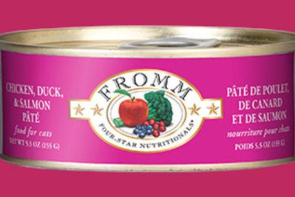 FROMM - Pâté Poulet, Canard et Saumon 155g