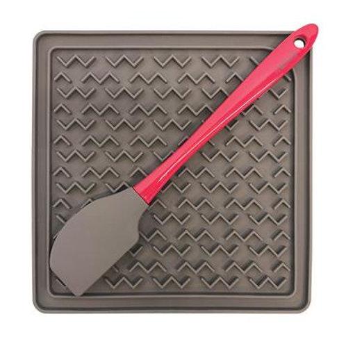 MESSY MUTTS - Tapis d'alimentation avec spatule en silicone