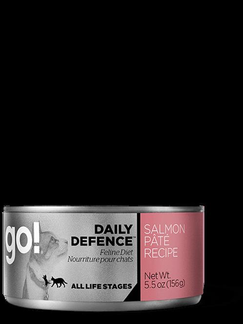 PETCUREAN GO! - Daily Defence Pâté Saumon 156g
