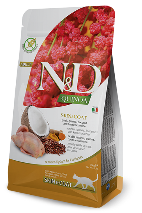 FARMINA - N&D Quinoa Sans Grains Peau et Poils Caille 3.3lbs