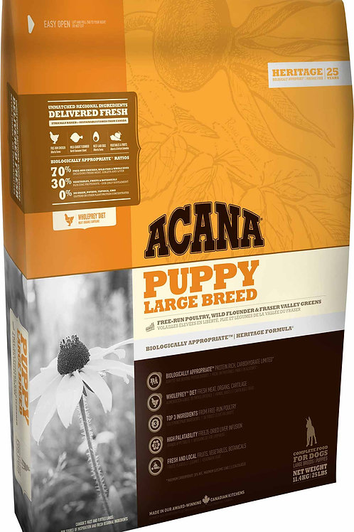 ACANA - Heritage Sans Grains Puppy Large Breed 25lbs