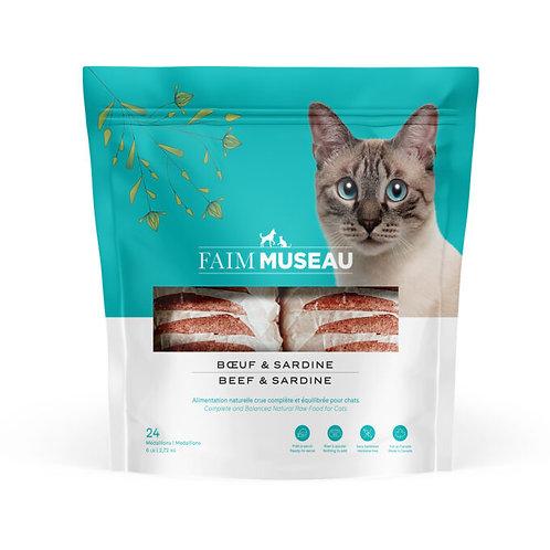 FAIM MUSEAU - Formule CHAT Boeuf et Sardine 6lbs