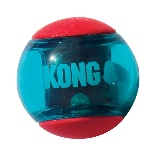 KONG - Balle Action Squeezz Rouge