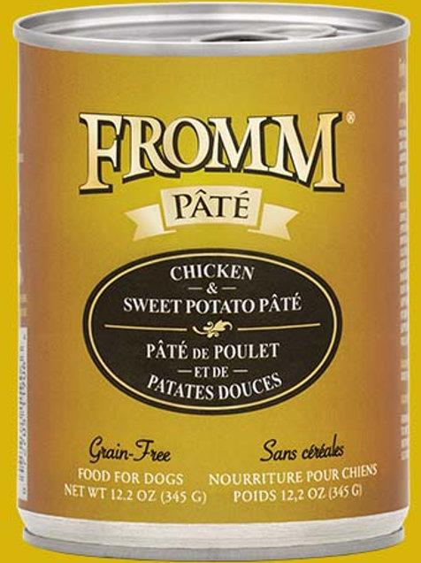 FROMM - Sans Grains Pâté Poulet et Patates Douces 345g
