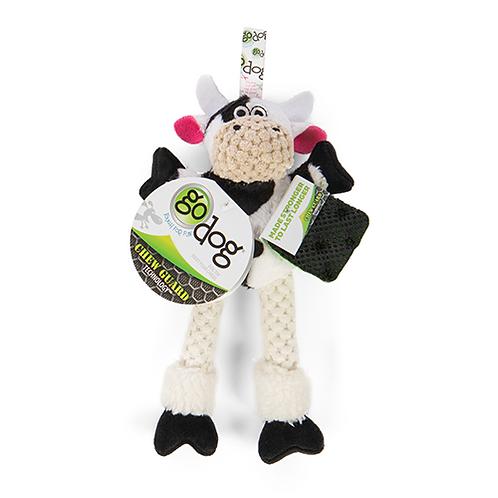 GODOG - MINI Vache avec pattes avec technologie Chew Guard