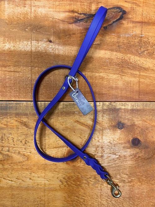 Ürra - Laisse Tréssée 5/8'' Biothane 4 pieds - Bleu Royal