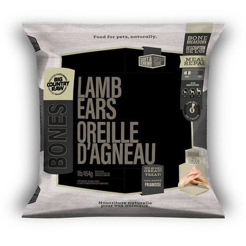 BIG COUNTRY RAW - Oreilles d'agneau  - 1lb
