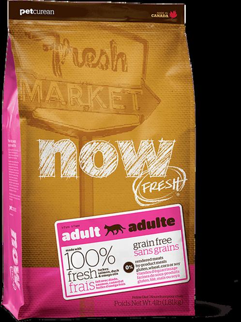 PETCUREAN NOW FRESH - Sans Grains Dinde+Saumon+Canard 16lbs