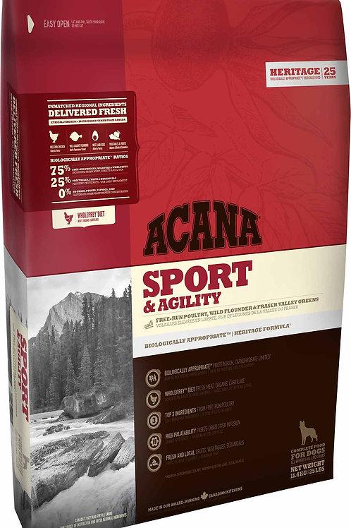 ACANA - Heritage Sans Grains Sport & Agility 25lbs