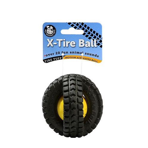 PET QWERKS - Pneu X-Tire Ball avec sons d'animaux Grand 5''
