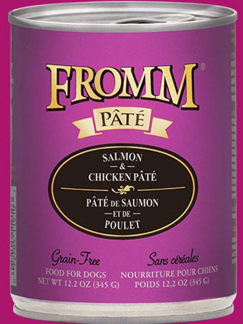 FROMM - Sans Grains Pâté Saumon et Poulet 345g