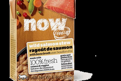 PETCUREAN NOW - Tetra Pak Sans Grains Ragout Saumon 182g