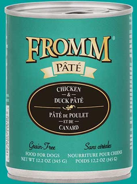 FROMM - Sans Grains Pâté Poulet et Canard 345g