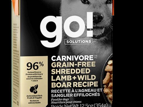 PETCUREAN GO! - Tetra Pak Carnivore Sans Grains Agneau et Sanglier 354g