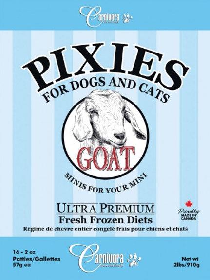 CARNIVORA PIXIES - FORMULE PUR - Chèvre - Boite de 2 lbs - pour chiens et chats