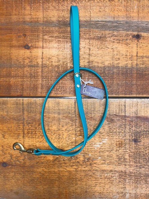 Ürra - Laisse Classique 5/8'' Biothane 4 pieds - Turquoise