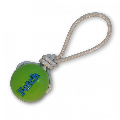 PLANET DOG - Balle Orbee Tuff Vert avec Corde