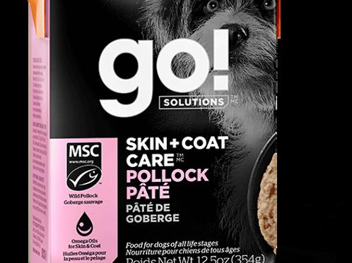 PETCUREAN GO! - Tetra Pak Peau + Poils Avec Grains Pâté Goberge 354g