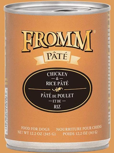 FROMM - Avec Grains Pâté Poulet et Riz 345g