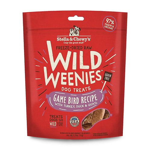 STELLA & CHEWY'S - Wild Weenies Gibier à Plumes - 92g