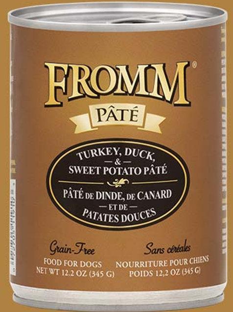 FROMM - Sans Grains Pâté Dinde, Canard et Patates Douces 345g