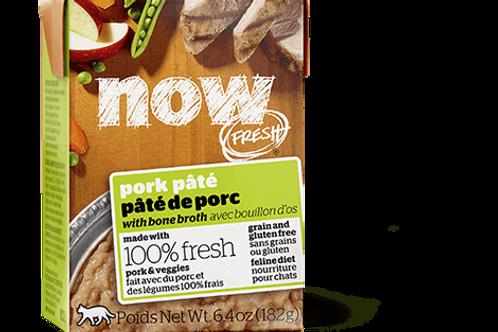 PETCUREAN NOW - Tetra Pak Sans Grains Pâté Porc 182g