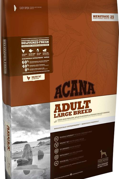 ACANA - Heritage Sans Grains Adult Large Breed 37.5lbs