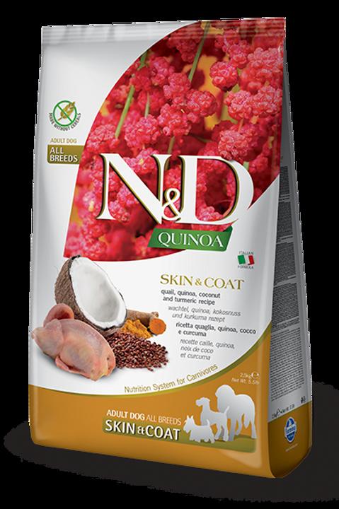 FARMINA - N&D Quinoa Sans Grains Peau et Poils Caille 15.4lbs