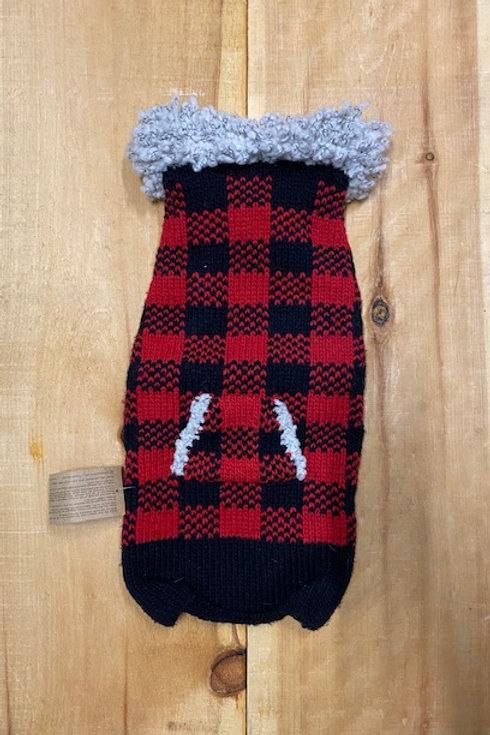 CHILLY DOG - Chandail en tricot  Buffalo Plaid avec collet