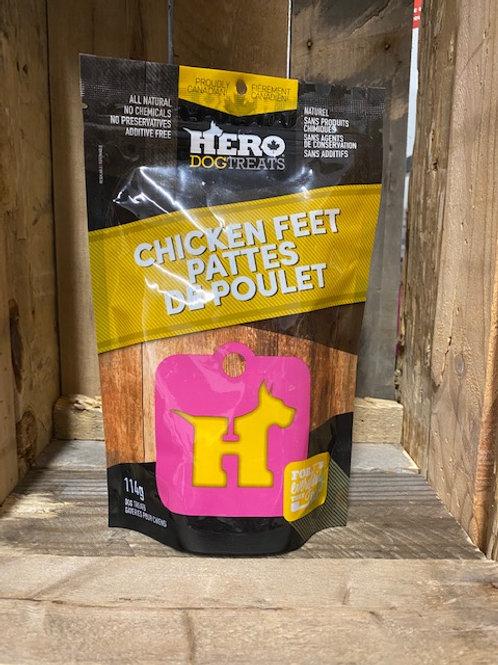 HERO DOG TREATS - Pattes de poulet déshydratées (114g)