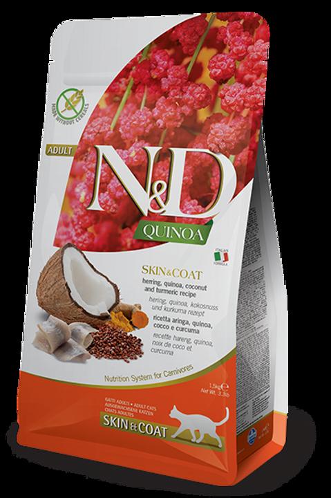 FARMINA - N&D Quinoa Sans Grains Peau et Poils Hareng 3.3lbs