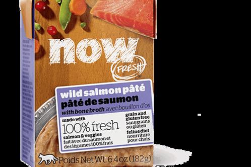 PETCUREAN NOW - Tetra Pak Sans Grains Pâté Saumon 182g