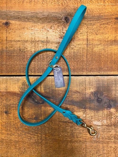 Ürra - Laisse Tréssée 5/8'' Biothane 4 pieds - Turquoise