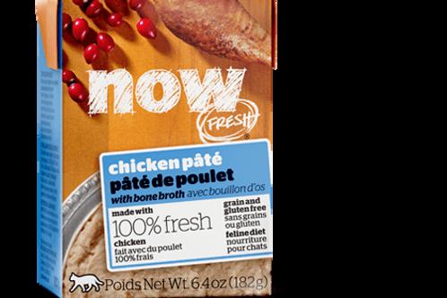 PETCUREAN NOW - Tetra Pak Sans Grains Pâté Poulet 182g