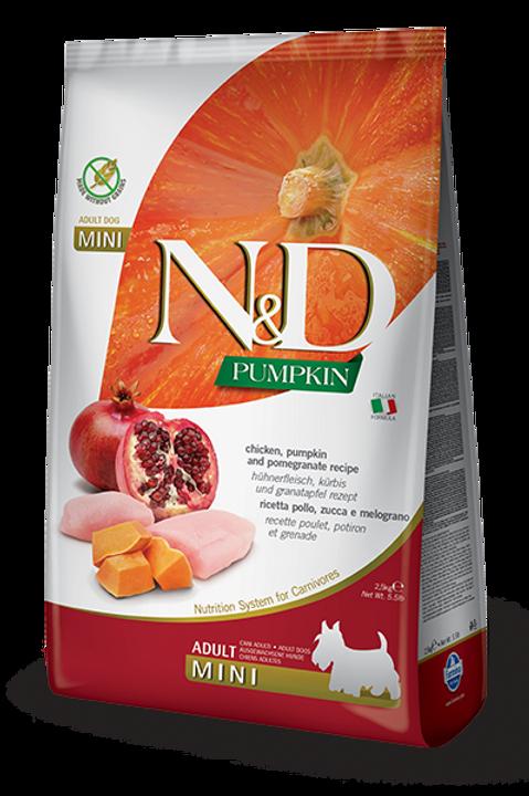 FARMINA - N&D Citrouille MINI Sans Grains Poulet et Grenade 5.5lbs