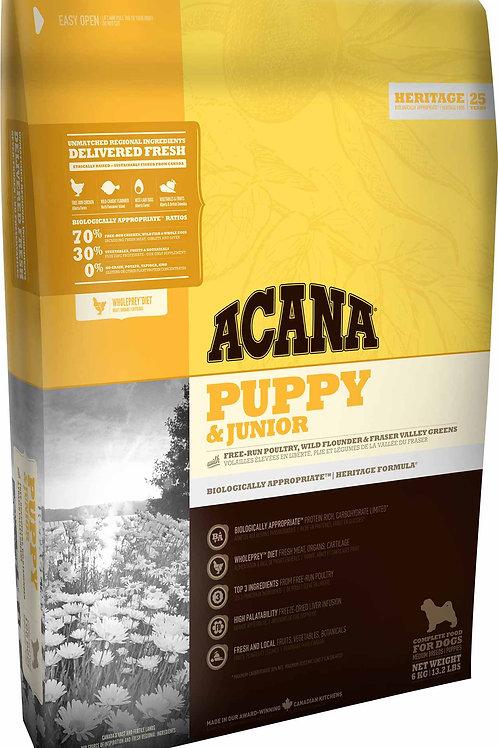 ACANA - Heritage Sans Grains Puppy & Junior 25lbs